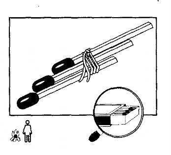 связанные спички