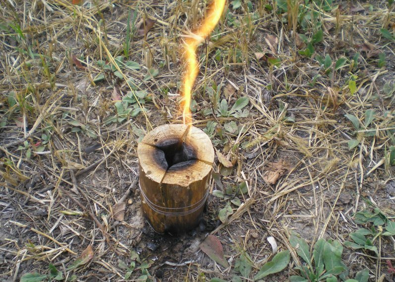 свеча из бревна